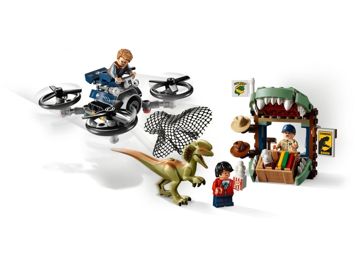 LEGO JURASSIC WORLD  `` DILOPHOSAURUS ON THE LOOSE ´´  Ref 75934  NUEVO