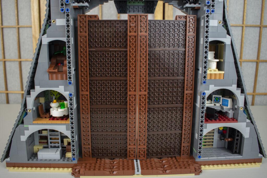 Rear of LEGO Jurassic Park Gate